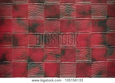 Claret red cowhide plaid