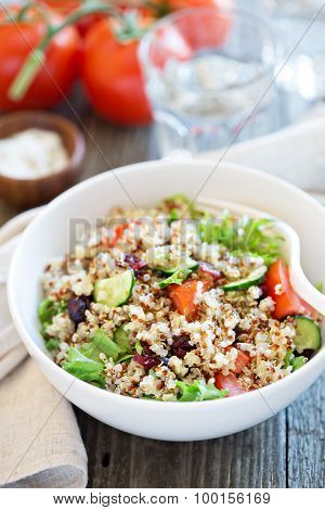 Quinoa salad with fresh vegetables