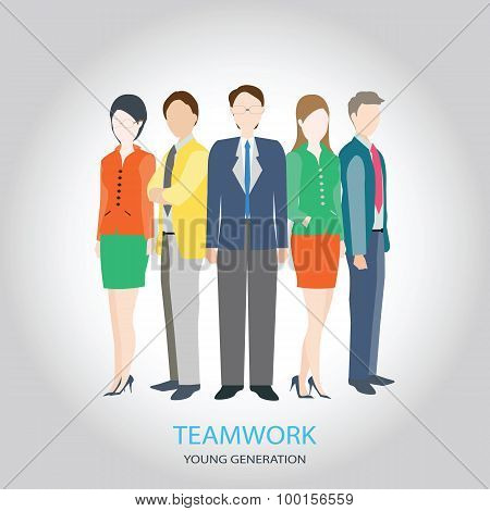 Hr Teamwork Workforce Team Time And Staff , Young Generation.