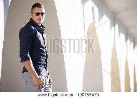 Good Looking Guy In Sunglasses In The City
