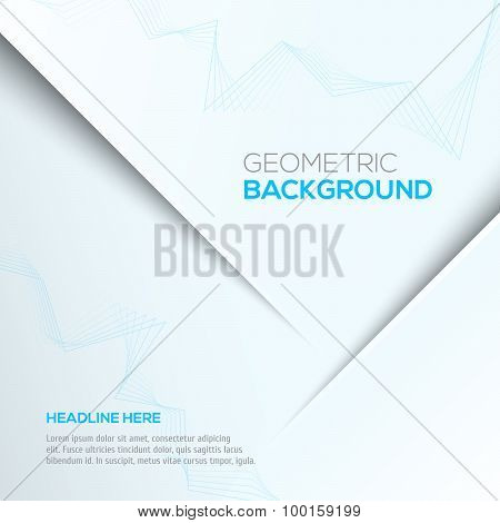 Geometric gray 3D background