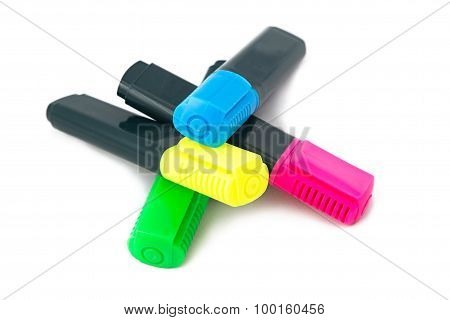 Image of four colour highlighters