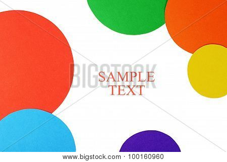 Circles Color Paper Isolated On White