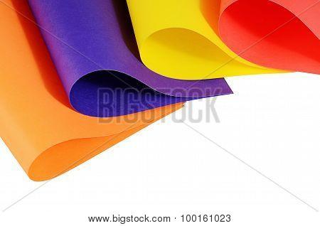 Set Of A Color Paper Close Up