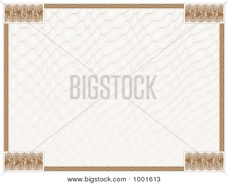 Guilloche - Frame With Background