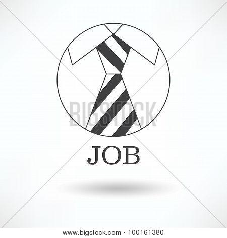 The Logo Symbol ,tie Office Job.