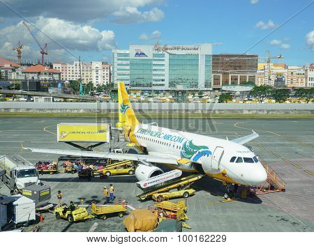 Cebu Pacific Airplane Parking In Manila Airport