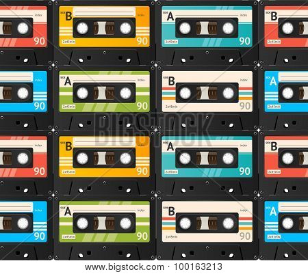 Cassette Tape Background. Vector
