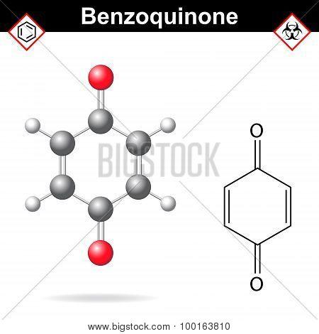 Benzoquinone Molecular Structure