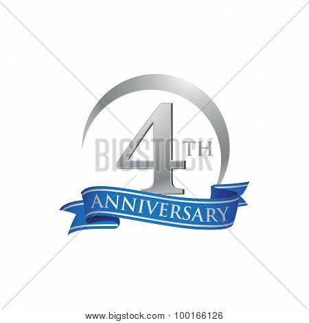 4th anniversary ring logo blue ribbon