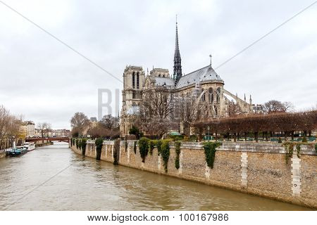 Paris. Notre Dame Cathedral.