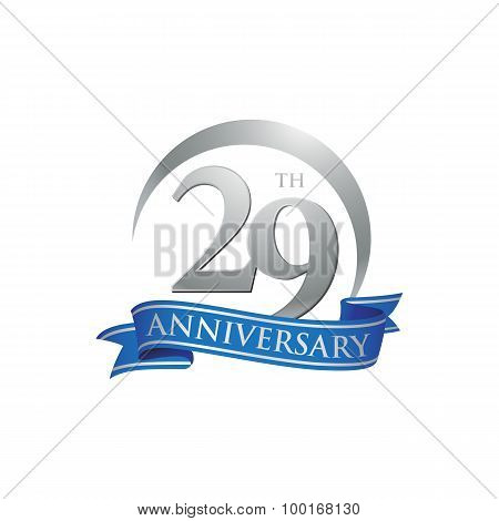 29th anniversary ring logo blue ribbon