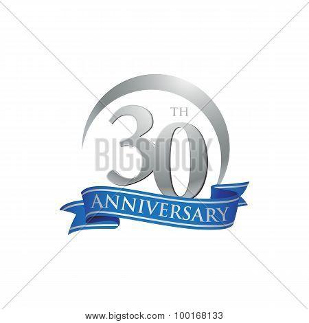 30th anniversary ring logo blue ribbon