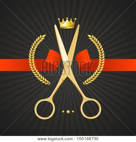 Scissors Barber Concept. Vector