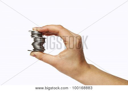 human hand with money