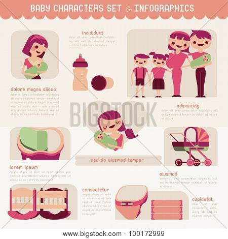 Pregnancy and birth infographics