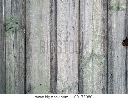 Fragment Of An Old Wooden Fence