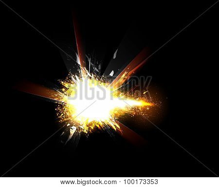 Sparkling stars light effect easy color editable