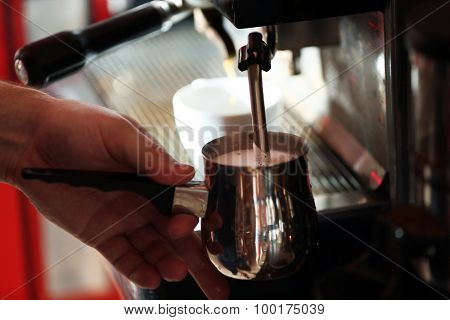 Coffee machine, close up