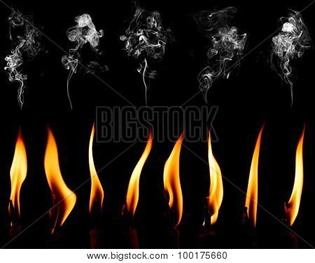 Black Background With Candles And Smock