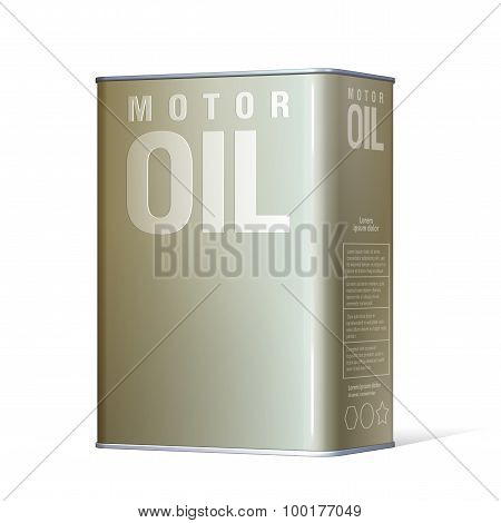Realistic Metal Containers For Motor Oil