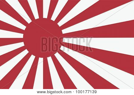 Sixteen Sun Rays Of Japanese Navy Flag.