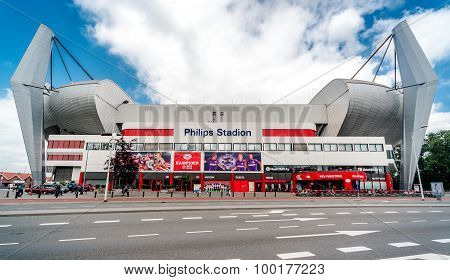 Exterior Of The Philips Stadium
