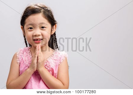 Traditional Thai Greeting Background / Traditional Thai Greeting / Traditional Thai Greeting On Isol