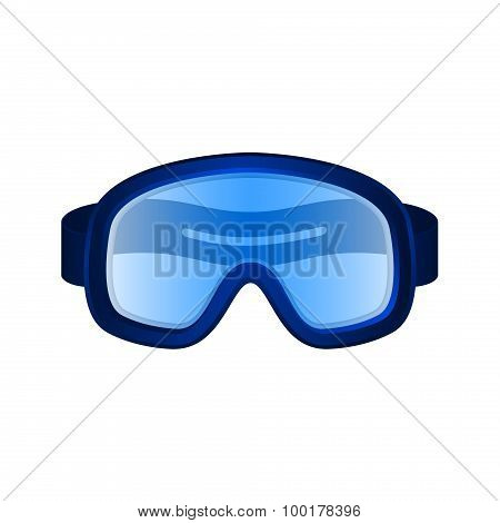Ski sport goggles in dark blue design