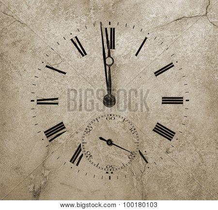 Midnight o'clock. Stone Watch texture