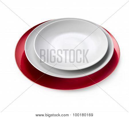 Dishware set Isolated On White Background