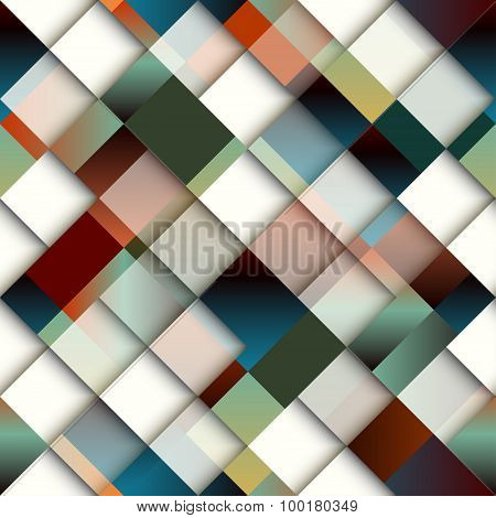 Abstract diagonal geometric pattern of rectangles.