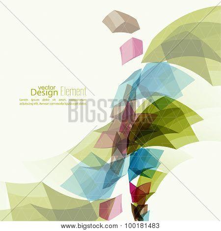 Angular geometric color shape.