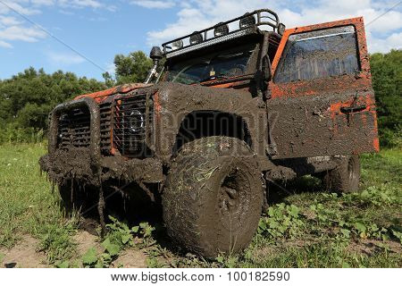 Land Rover Defender After The Race