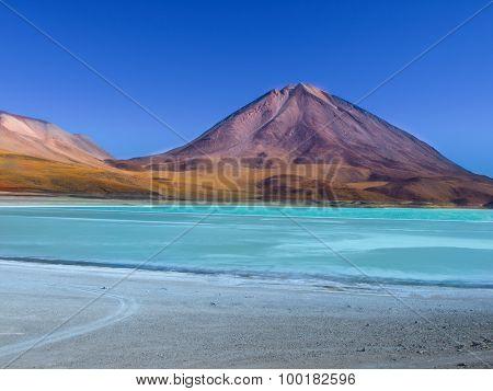 Laguna Verde and Licancabur volcano