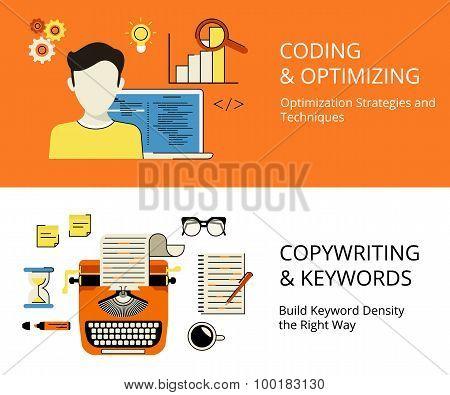 Coding and copywriting