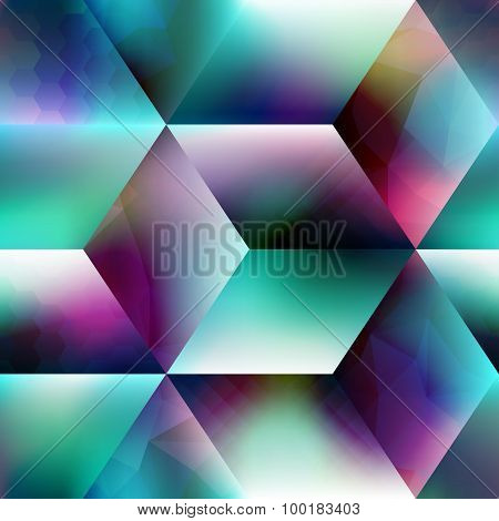Abstract geometric cubes background.
