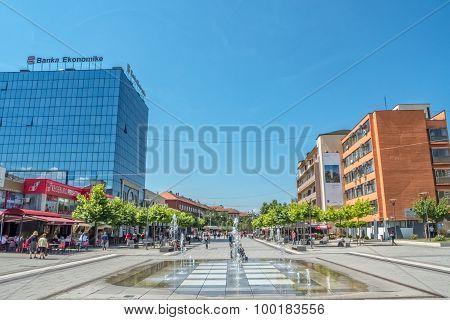 New fountain Scanderbeg Square Pristina
