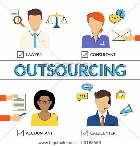 Four types of outsoursing