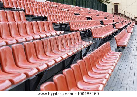 Bright Brown Stadium Seat