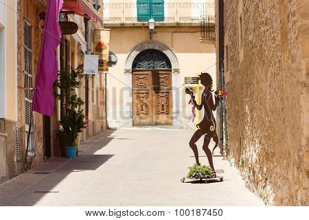 Pedestrian Street In Arta, Mallorca