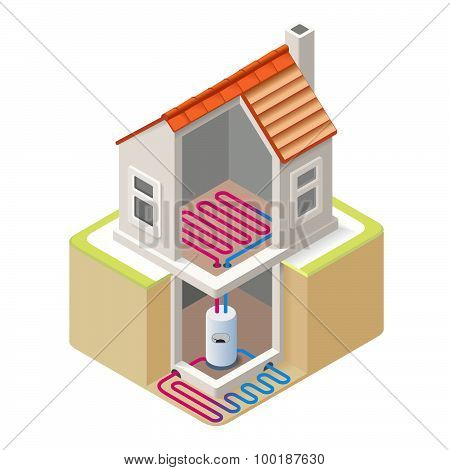 Energy Chain 05 Building Isometric