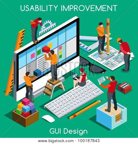 Gui Design People Isometric