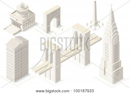 Nyc Map 04 Building Isometric