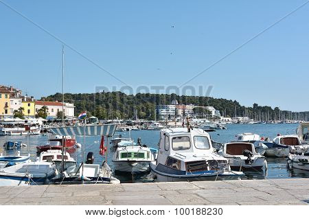 port of Rovinj in Croatia