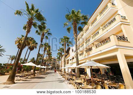 Street Of Resort Town