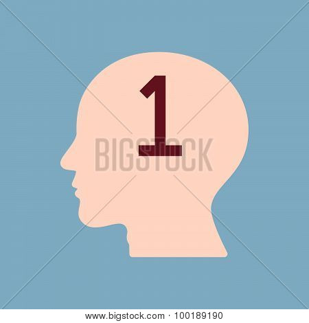 Number One In Human Brain Head