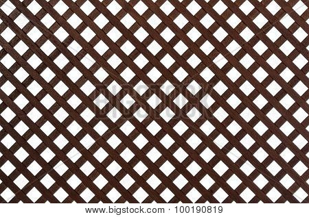 Wooden Lattice, Isolated On White Background