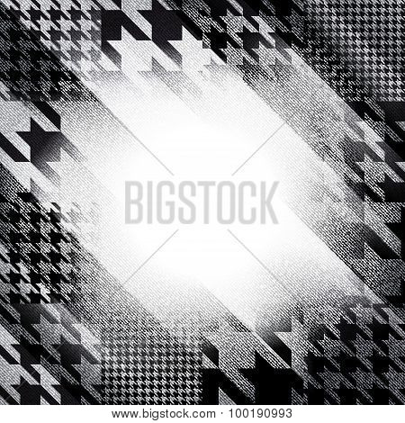 Template for design with grunge houndstooth elements.