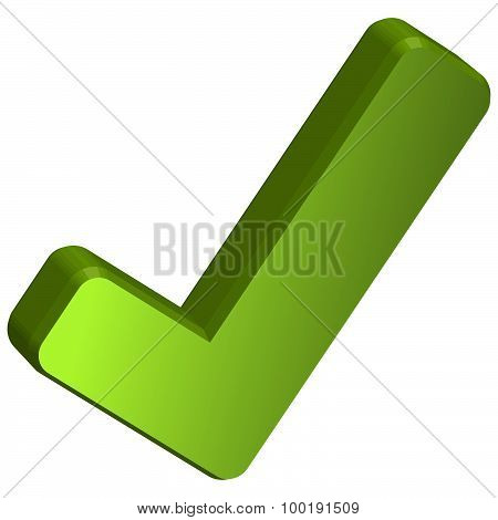 Green Three Dimensional Checkmark